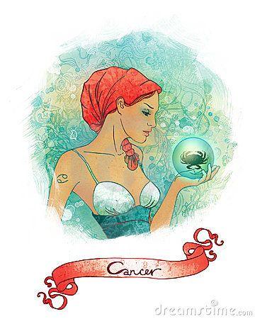 Signe astrologique de Cancer en tant que belle fille