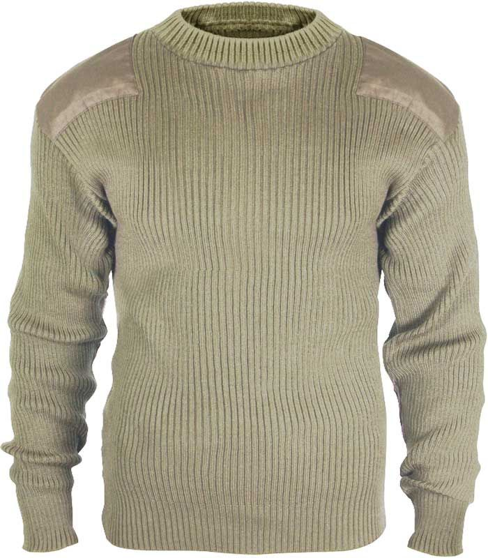GI Style Khaki Acrylic Commando Sweater | Army Navy Store, Inc. $34.99