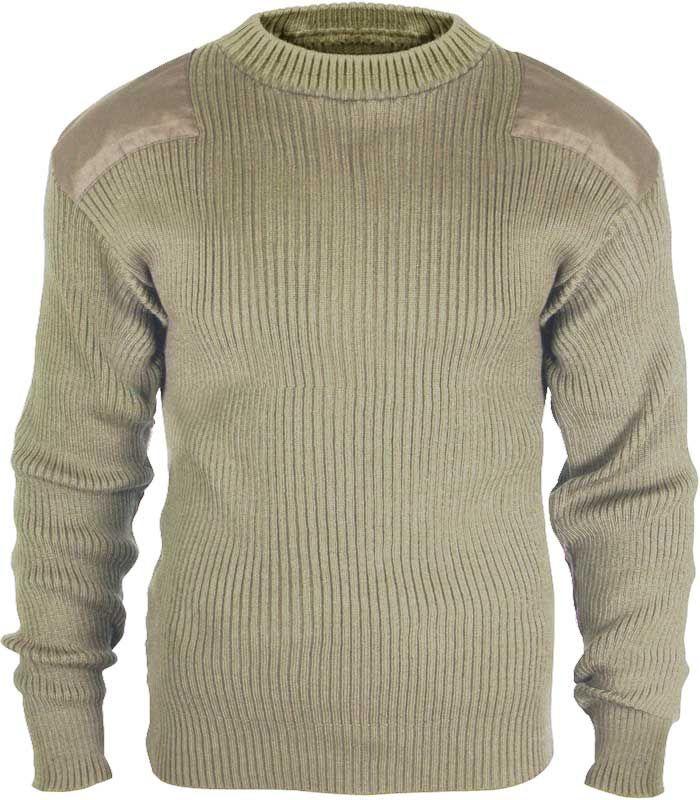 GI Style Khaki Acrylic Commando Sweater | Army Navy Store, Inc. $34.99