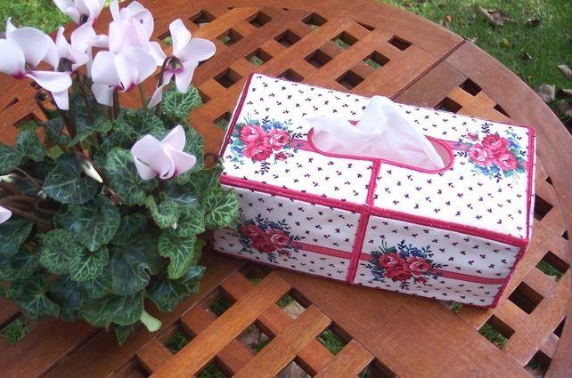Tissue Box - Pink Roses £7.50