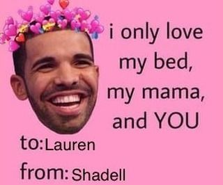 Today I want to give my appreciation to the greatest fiancé anyone could ask for Lauren !!  Hugo Santos #drake #drizzy #love #bed