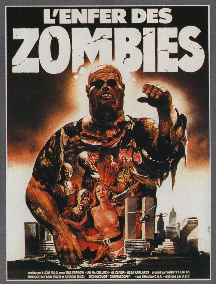Original Vintage French Horror Movie Poster L enfer des zombies 1979