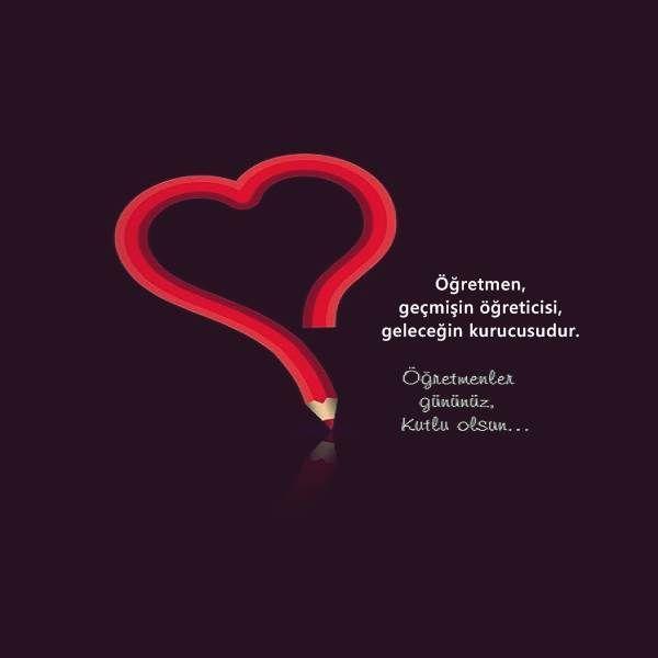 Kalp Şekilli Öğretmenler Günü Mesajları
