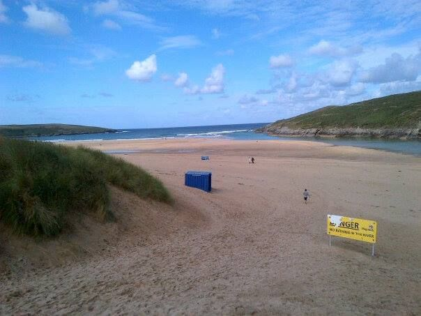 Crantock Beach in Crantock, Cornwall