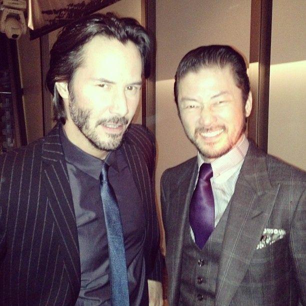 Keanu reeves and tadanobu asano at the 47 ronin world premiere in japan.@tadanobu_asano | GOOD&BAD!!! | Webstagram