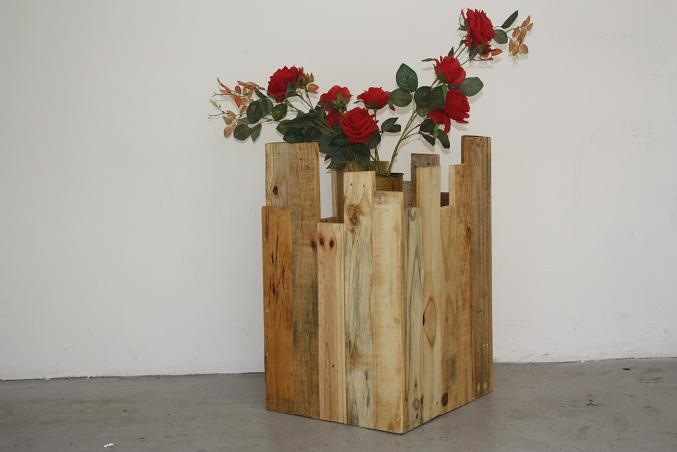 flower box from Eco furniture design made from recycled timber
