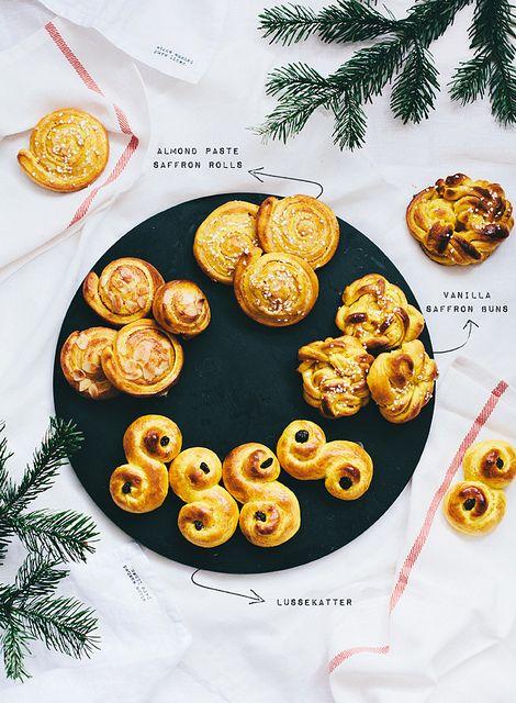 Swedish saffron buns.