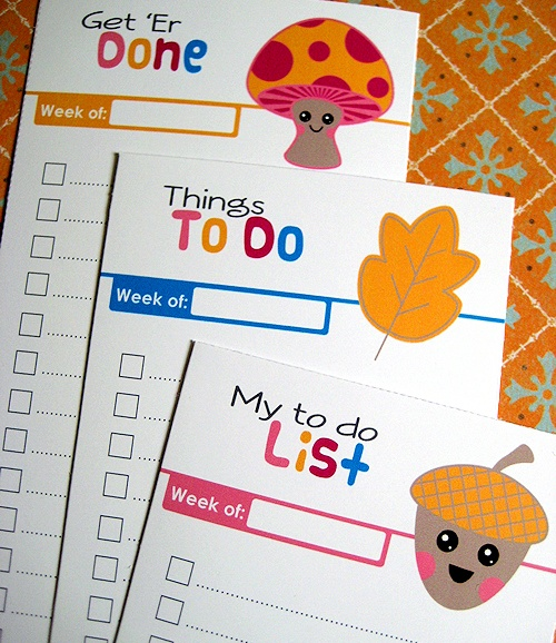 Free printable to-do lists.