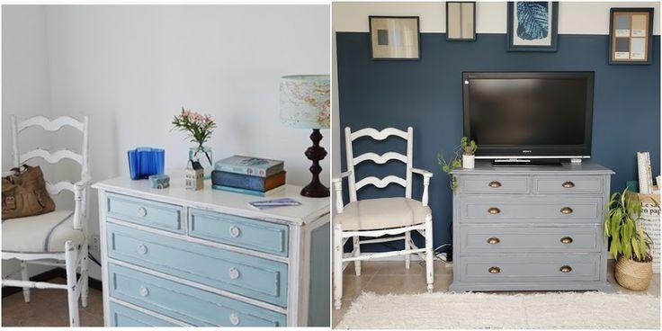 Proyecto azul: renovar un cuarto con color - halfpainted wall / Vero Palazzo - Home Deco Pantone, Palazzo, Dresser, Furniture, Home Decor, Color Of The Year, Shades Of Blue, Blue Nails, Colors