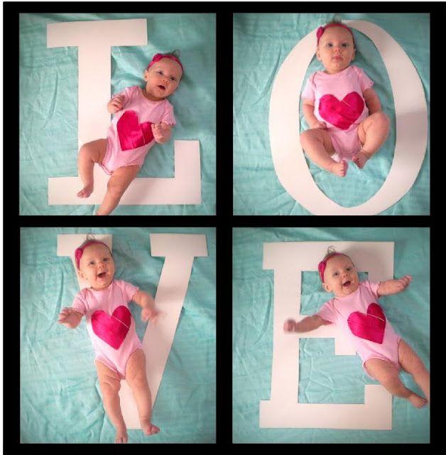 Great Valentine baby photo idea!