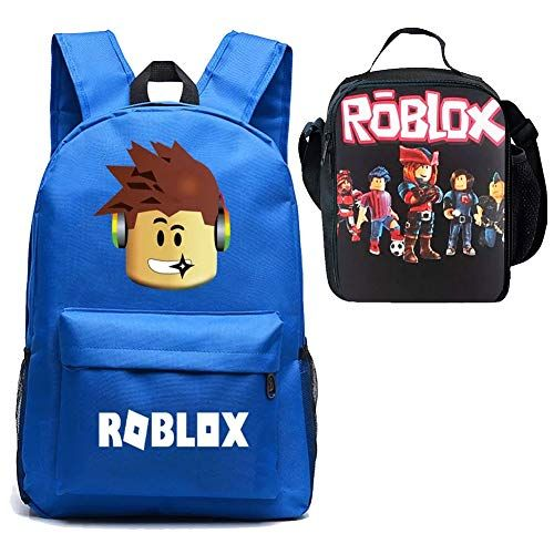 3e47f100ba3a Roblox Backpack Boy Lunch Box School Bookbag Insulated Mini Bag for ...