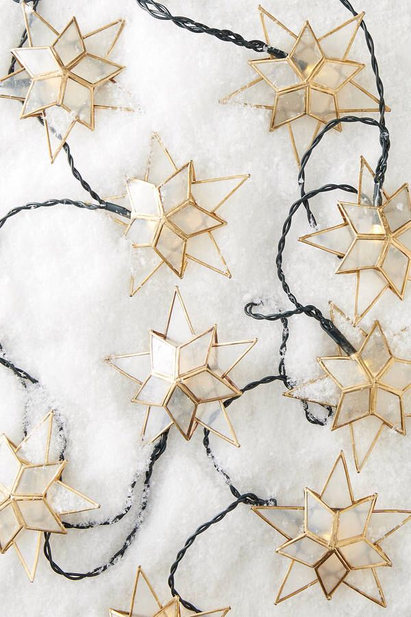 Anthropologie Capiz Star String Lights