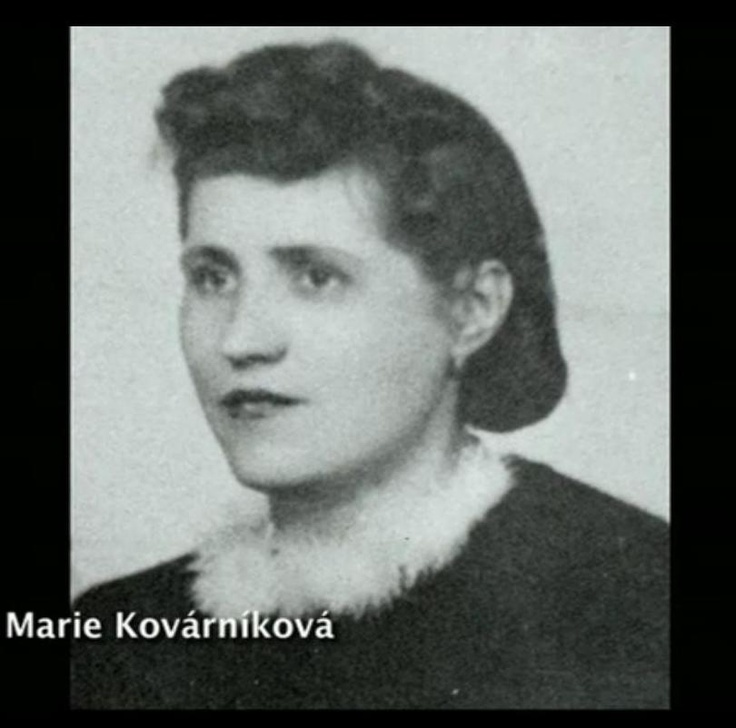 Marie Kovárníková and her sister Ludmila received information about Heydrich's daily routine for future assassins. She had close relationship with Jan Kubiš. Both sisters were executed in Mauthausen. Photo from http://www.ceskatelevize.cz/porady/10350893065-heydrich-konecne-reseni