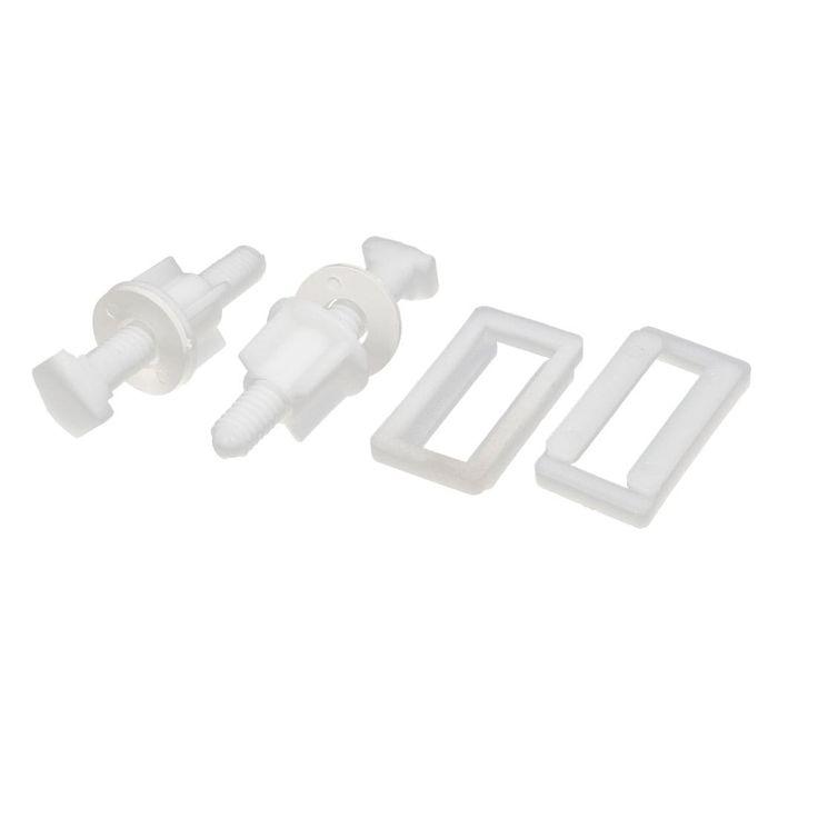 Toilet Seat Hinge Bolts Screws Fixing Fitting Kit Repair Tools 2 Sets