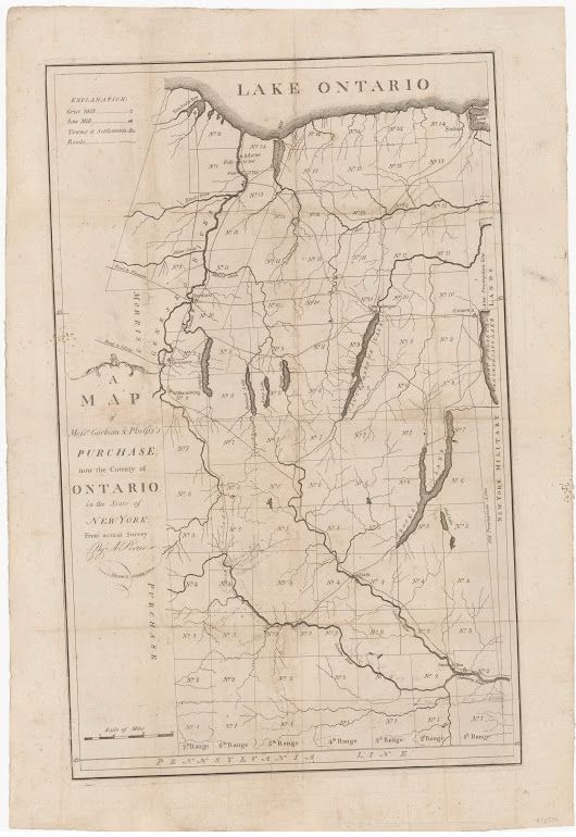 Rare 18th-century map of the Phelps and Gorham Purchase, 1794  An extremely rare map of the Phelps and Gorham Purchase in New York's Finger Lakes Region... - Boston Rare Maps Inc - Google+