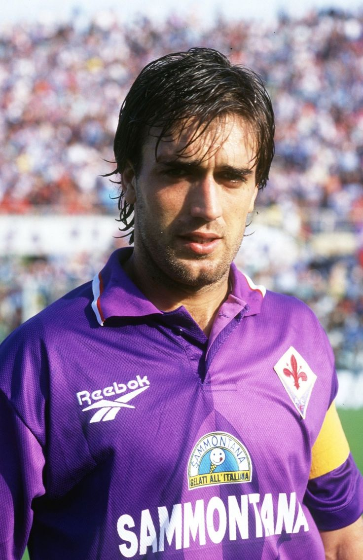 Batistuta when he was playing for Fiorentina
