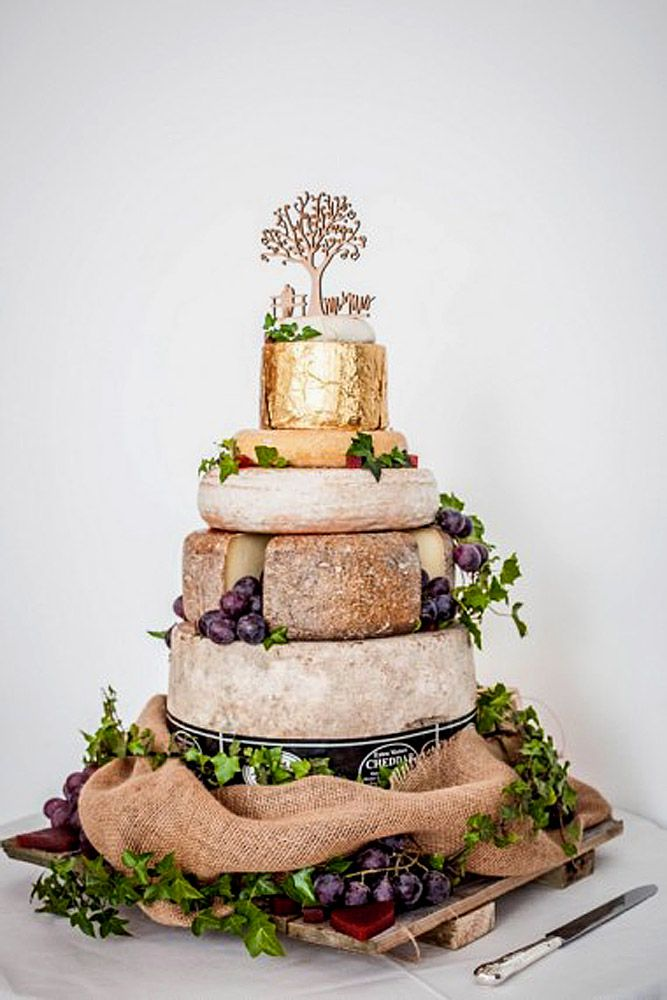5 Steps To A Perfect Cheese Wheel Wedding Cake ❤ See more: http://www.weddingforward.com/cheese-wheel-wedding-cake/ #weddings #cakes
