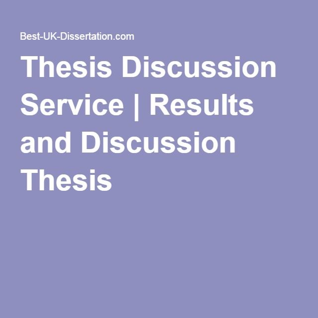 Thesis Discussion Service   Results and Discussion Thesis
