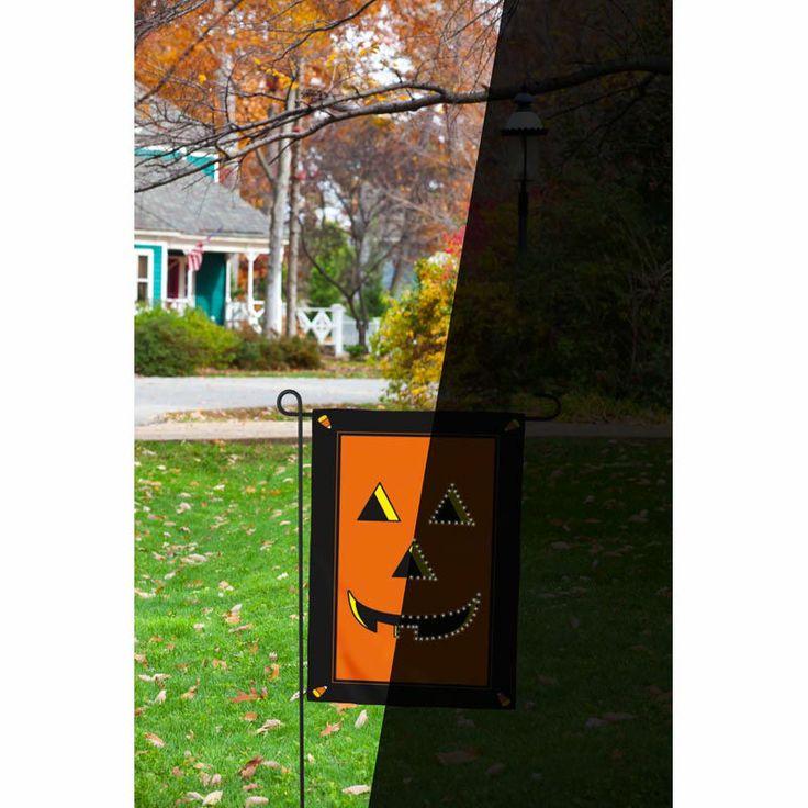 18 small fiber optic led lit halloween jack o 39 lantern for Fiber optic halloween decorations home