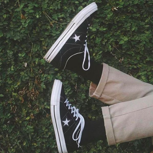 CONVERSE ONE STAR PREMIUM SUEDE LOW TOP - BLACK | Converse one ...