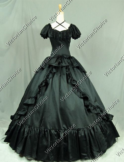 Victorian Southern Belle Period Dress Ball Gown Reenactment Theatre Clothing Punk
