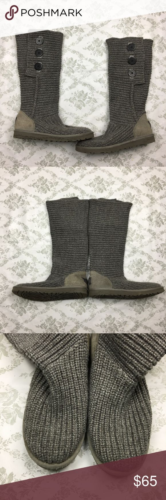 Ugg classic Cardy button boots sz 9 gray Pre loved good condition, minor signs of wear UGG Shoes Winter & Rain Boots