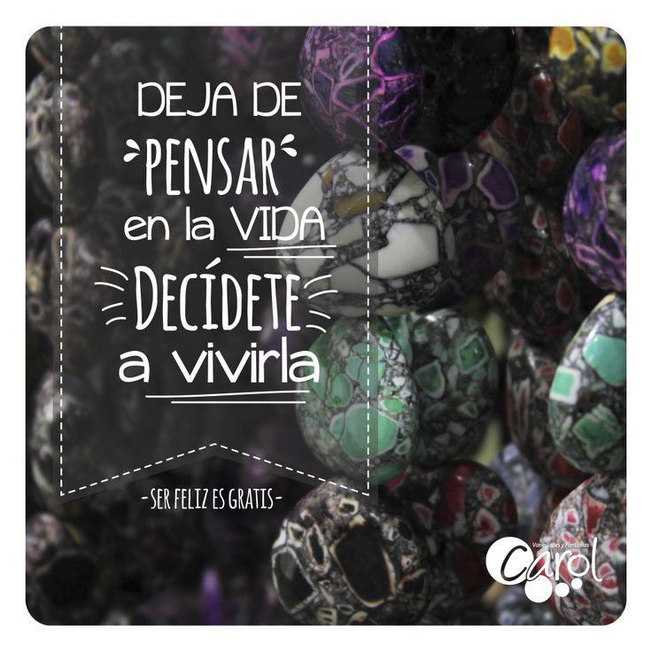 #DIY #HazloTuMismo Decídete a vivir la vida!!! Feliz inicio de semana para tod@s!!!
