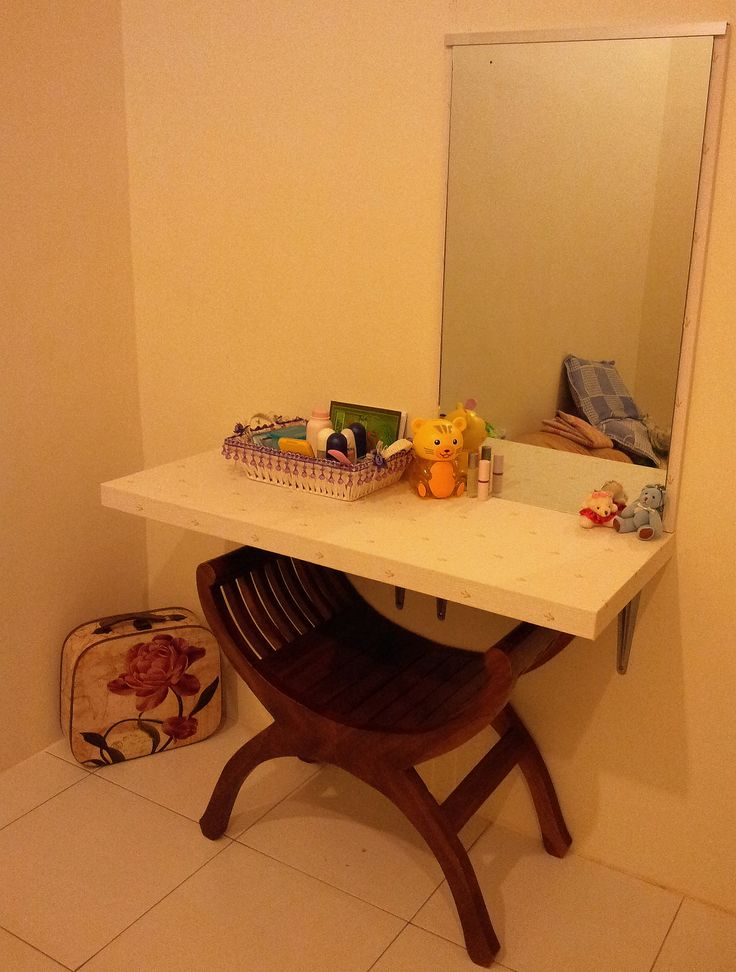 own dressing table designed by my husband out of the closet unused