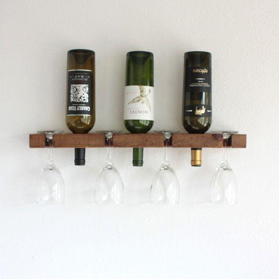 Wine Rack Wall Mounted Wine Rack Small Wine by AdliteCreations