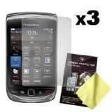 Three LCD Screen guards BlackBerry Torch 9800