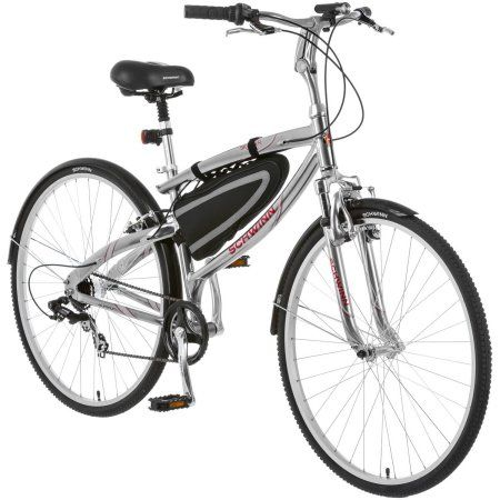 ab885738e87 Free Shipping. Buy 700c Men's Schwinn Skyliner Hybrid Bike, Silver ...
