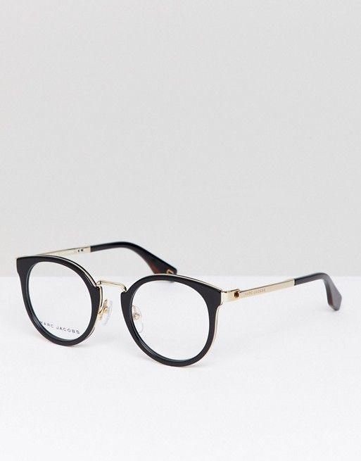 ebc1ab604d Gafas con montura ojos de gato en negro y lentes ópticas de Marc Jacobs