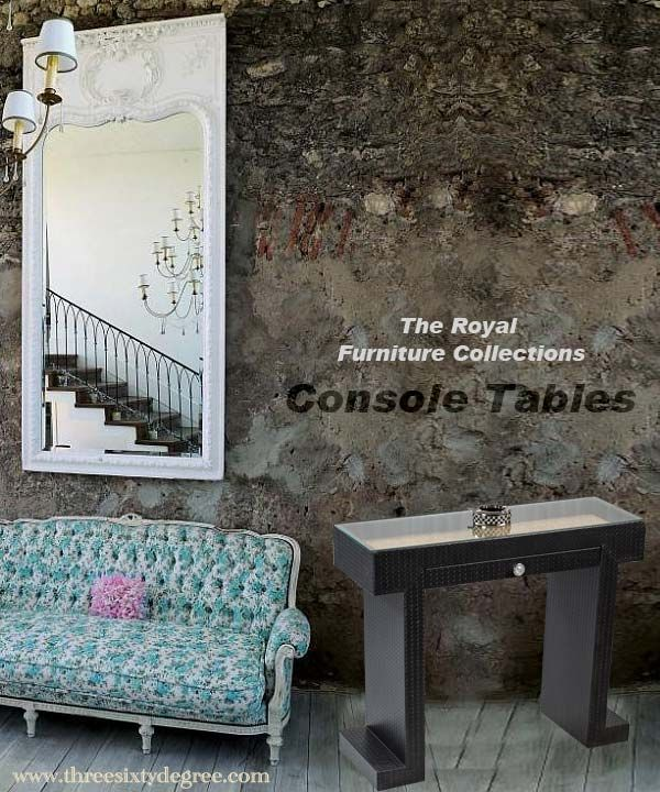 The elegant console tables from threesixtydegree for your beautiful home. For more please visit http://bit.ly/1SwEo6K.