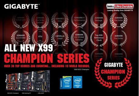 GIGABYTE Lanza la nueva serie de motherboard X99 Champion