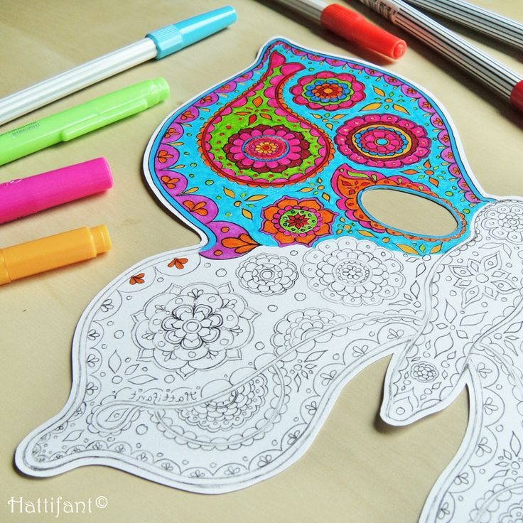 Paisley Butterfly Masks Make A Beautiful Mask With These Free Printables Choose The Pattern To Color In Or Blank For Your Own