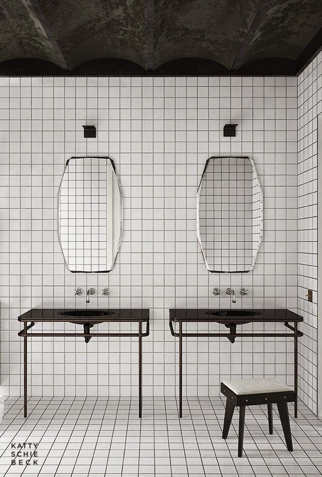 Black and white #bathroom #design