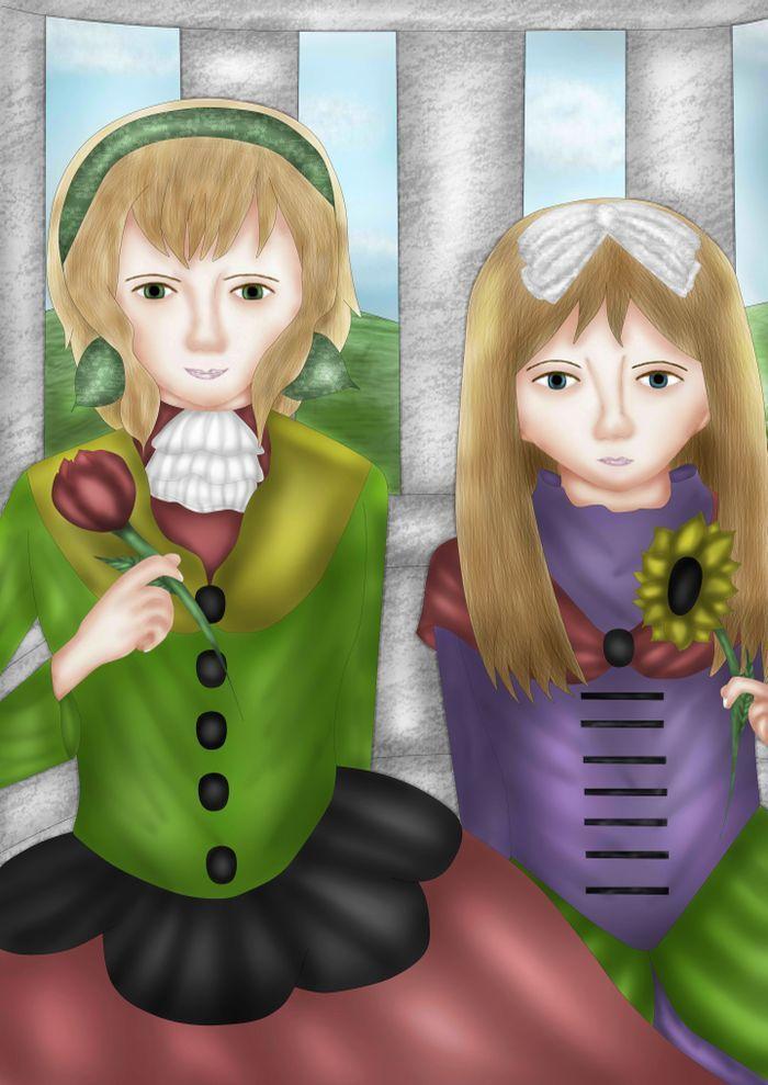 Girl And Flower (Hetalia Belgium And Belarus)