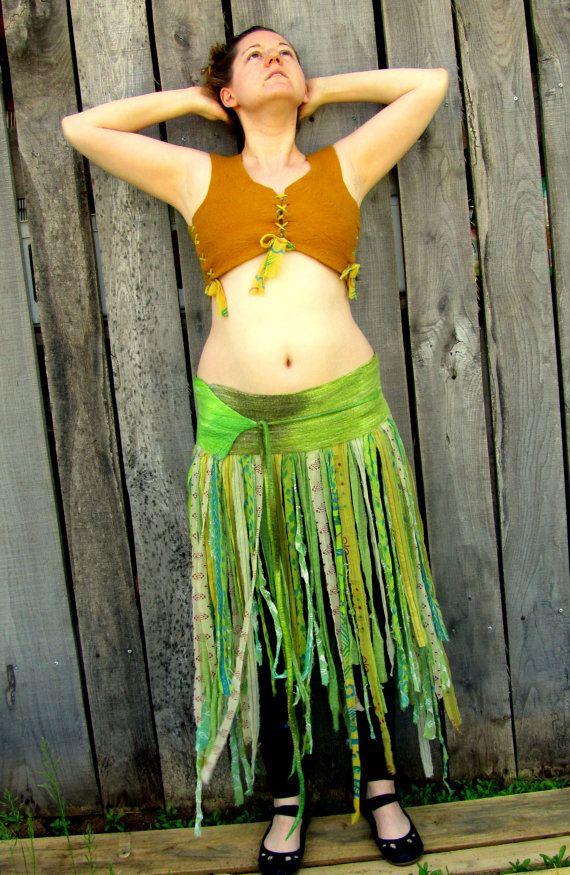 Bohemian Wrap Around Skirt. Tattered Gypsy Skirt. Boho Fairy Skirt. LARP. Ready to Ship Holiday Gift.