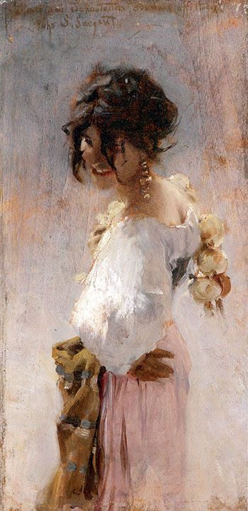Title: Rosina, 1878  Artist: John Singer Sargent  Location: Private Collection #ArtisticSerendipity