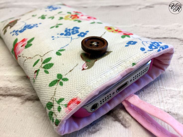 iPhone 4 5 6 7 8 Padded Case / Sleeve Made in Cath Kidston Cotton Duck Fabric    eBay