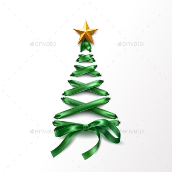 Vector Lace Up Christmas Tree Made Of Laces Christmas Vectors Christmas Tree Star