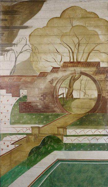 An image of Moon Gate Garden by Roy de Maistre