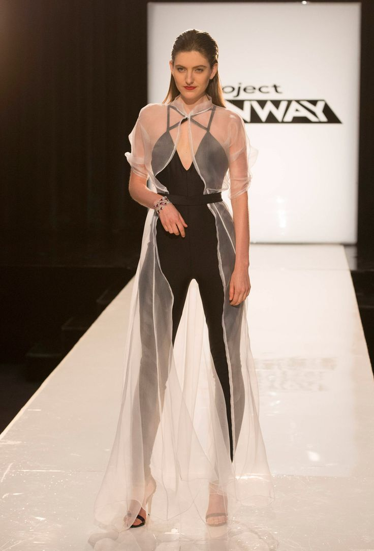 Project Runway Season 13 Rate the Runway Amanda Valentine Episode 6 Look; too closed around the neck, but love the flowing material, especially around a bodysuit