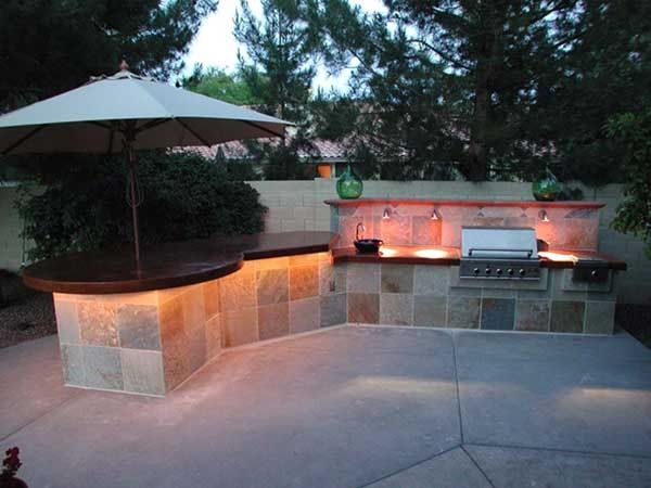 Outdoor BBQ Island Made With CHENG Concrete Countertop Pro Formula In  Brick. Location: Phoenix, AZ | Concrete Outdoor Living | Pinterest | Cheng  Concrete, ...