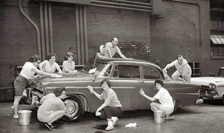 All hands car wash!