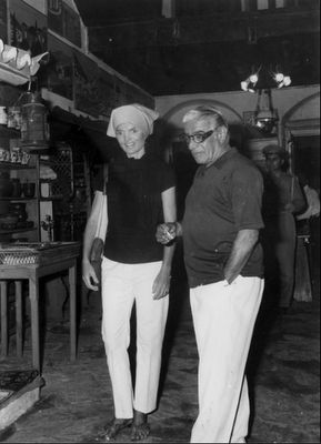Jackie Kennedy & Aristotle Onassis in Hydra island, Greece