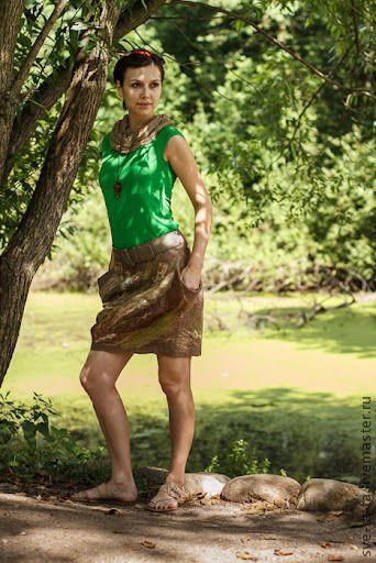"""Купить Юбка """"Лесная фея"""" войлок - войлочная юбка, валяная юбка, юбка из войлока"""