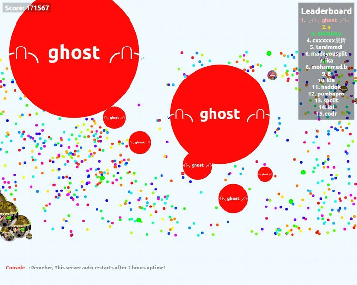 ╭∩╮ghost╭∩╮ nickname agario pvp server score agarabi.com nickname ╭∩╮ghost╭∩╮ - Player: ╭∩╮ghost╭∩╮ / Score: 1715670 - ╭∩╮ghost╭∩╮ saved mass Today its time for leader agarabi.com agario private server!