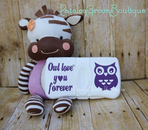 Diaper Wipes Case Owl baby shower gift diaper bag baby
