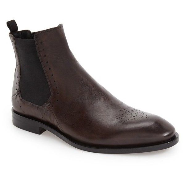Men's Bacco Bucci 'Fabri' Chelsea Boot (€265) ❤ liked on Polyvore featuring men's fashion, men's shoes, men's boots, graphite leather, mens leather boots, mens beatle boots, mens chelsea boots, mens leather chelsea boots and bacco bucci mens shoes